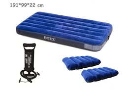 Wholesale Single Camping Air Mattress - Wholesale-INTEX 99*191*22CM single plus size air mattress 68757 inflatable bed,camping mattress