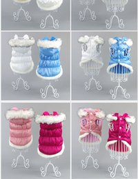 Wholesale Red Jacket Small - Cotton Padded Winter Dog Jacket Warm Pet Clothes Puppy Hoodie Coat Clothing for Small Dogs Apparel Chihuahua Yorkie Outfit 21
