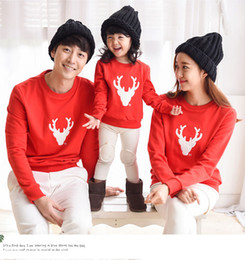 Wholesale Family Christmas Sweaters - 2017 New Years Family Look Christmas Shirt Sweaters Family Mother Daughter Outfits Father Son Matching Clothes Family Clothing