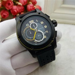 Wholesale Mens Sub Watch - All Sub-Dials Working Mens Watches Sports Stopwatch Top Brand Quartz Luxury Watch Leather Strap Auto Date Wristwatches For Men male gift