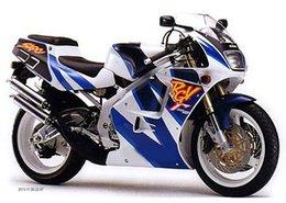 Wholesale Rgv Vj23 - 7gift+ For SUZUKI RGV 250 VJ 23 Blue white 96-99 68CL77 VJ23 1997 1998 RGV250 Blue white VJ23 96 97 98 99 1996 1999 Fairing