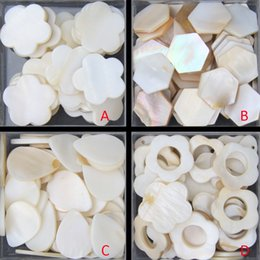 Wholesale Water Tiles - 100g Free Shipping pure white color flower water drop shell mother of pearl mosaic tile for interior house decoration tiles
