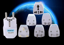 Wholesale Euro Ac Power Plug - 1PC Universal US UK AU To EU Plug USA To Euro Europe Travel Wall AC Power Charger Outlet Adapter Converter 2 Round Socket Pin