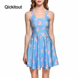 Wholesale Marie S - Wholesale- Drop Ship Brand New Hot Sexy Women Casual Dress Marie Reversible Skater Dress Pleated Print Dresses