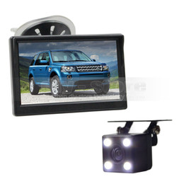 Wholesale Rear Vision Systems - 5inch Rear View Car Monitor + Wire Waterproof Reverse Backup Car Camera LED Night Vision Parking System