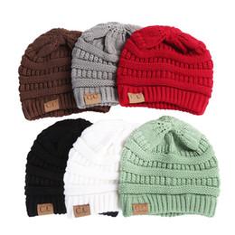 Wholesale Christmas Ski Hat - CC Beanie Women Knit Beanies hat short Winter Girls women men Lovers Outdoor skiing Casual Cap Warm Men Casual Hats FREE express SHIPPING