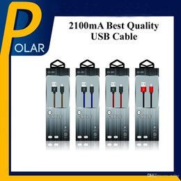 Wholesale Cloth Iphone Cable - Factory Sale 2100mA USB Cable 1M Lightning Micro Zinc Alloy Cloth screen USB Charging Data Cable With Retail Package Full Stocked
