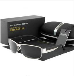 Защита приводов онлайн-HDCRAFTER Мода для вождения Солнцезащитные очки для мужчин Поляризованные солнцезащитные очки UV400 Защитные очки для дизайна бренда Highquality Oculos