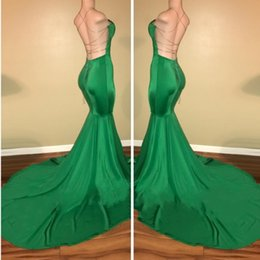 Wholesale Lime Green Long Formal Dresses - sexy cheap black girl lime green prom dresses 2017 mermaid long evening gowns formal wear with cross backless sleeveless
