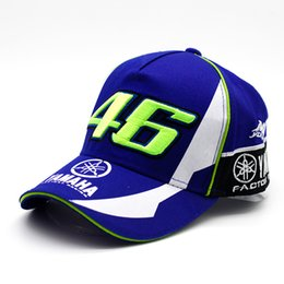 Wholesale New Design F1 Racing YAMAHA Car Motocycle Racing MOTO GP VR Rossi Embroidery Sport Cotton Trucker Baseball Cap Hat