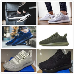 Wholesale Eva 3d - Wholesale 2017 Mens Womens Originals Tubular Shadow Knit Core Black White Cardboard Sneakers Running Shoes 350 boost 3D Sneakers 5-10