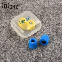 Wholesale Ear Pad For Earphone - 10 pcs Earphone tips Memory Foam QKZ Original 5 Pairs foam tips Comply T400 Ear Pads for all in ear earphone headset headphone
