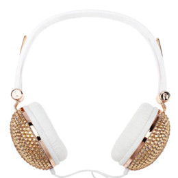 Wholesale Anti Noise Pc - Bling Headphones Anti-noise Music Fashion Wired headset with Artificial Shiny Crystal Rhinestone for DJ Mobile Phone PC