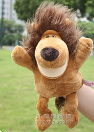 Wholesale Naughty Baby - Wholesale- Super cute 1pc 30cm naughty lion hand puppets with feet plush game story doll stuffed toy baby sleeping gift