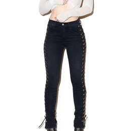 813b129d986 wholesale colored skinny jeans women Promo Codes - Wholesale- 2017 Fashion  Spring Women Jeans Elastic