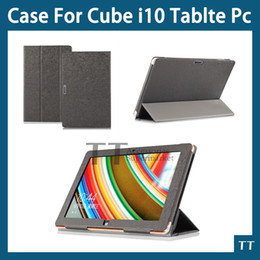 Wholesale- Original High quality PU case for cube i10 10.6 inch Tablet PC,cube i10 case cover+screen protector+touch pen от