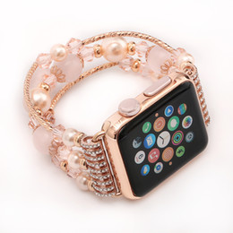 Wholesale New Fashion Jewelry Wholesale Retail - New Fashion for Apple Watches iWatch 38mm 42mm Smart Strap Replacement Jewelry Smart Watch Wearable Band with retail box