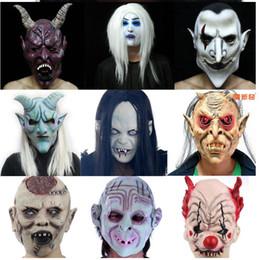 Terörist kafa hayalet korkunç Cadılar Bayramı maskesi masquerade iblis ölüm lateks palyaço erkek yetişkin kadın hayalet yüz nereden