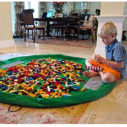 Wholesale Bag Rugs - Portable Kids Toy Storage Bag Children Infant Baby Play Mat 150cm 45cm Large Storage Bags Lego Toys Organizer Blanket Rug Boxes Practical