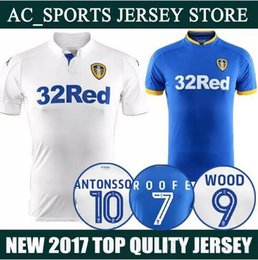 Wholesale United Number - Wholesale 16 17 Leeds United soccer jersey home custom name number Top thai AAA quality soccer uniform football jersey clothing
