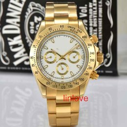 Wholesale Mens Divers - Full Gold Mens Multi-functional Stainless Steel Strap 116500LN AAA Luxury Brand Wristwatch Watch Rose Fashion Casual Automatic Watches