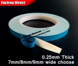 Wholesale Heat Sink Tape - Wholesale- 2016 1x 7mm (or 8mm 9mm)*20M Two Sides Adhesive Thermal Conductive Tape Strip for LED Strip Panel, PCB IC with Heat Sink