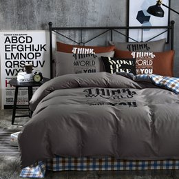 Wholesale Offset Machines - Simple Grey Color Offset Printed Twin   Queen   King Size 100% Cotton Kids Bedding Set