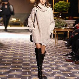 Wholesale Oversized Women Sweaters - Wholesale-women sweaters and pullovers 2016 autumn and winter jumper long sleeve pull femme turtleneck long oversized sweater women dress