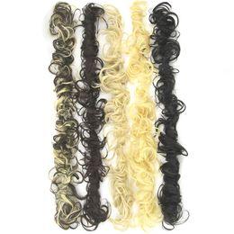 Wholesale Updo Hair Accessories - 80cm Long Bun Curly Hair Extension Headband Hair Donut Roller Hairband Scrunchie UPDO