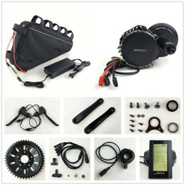 Wholesale Motor Electric Ebike - 8fun 48V 1000W BBSHD Electric Bicycle BBS03 Bafang mid drive motor kits with 48V 20AH triangle battery for Electric Fat eBike