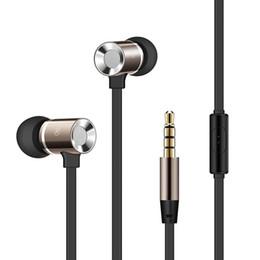 M1 teléfono móvil online-M1 Aluminio Auricular de metal Bajo pesado Auriculares con cancelación de ruido para teléfono móvil iPhone a PC Hola fidelidad Sonido