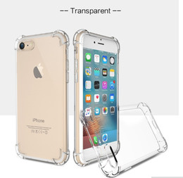Wholesale Galaxy S Clear Case - 0.8mm Airbag Anti-shock Clear Soft TPU Case For iPhone 5 se 6 6s s plus 7 7 plus Galaxy S8 S8 PLUS A3 2017 A5 2017 J5 PRIME J2 PRIME 100pcs