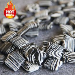 Wholesale Zebra Necklace Beads - Newr Necklace&Bracelet Accessories 13mm Natural Turkey Turquoise beads Howlite women girls gifts DIY Zebra Stripe Jewelry making