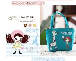 Wholesale Girls Rose Handbags - Wholesale- Hot Korean Soft Floral Rose cute women Children Bag wallet clutch Coin Change Key Purse Gift Handbag casual