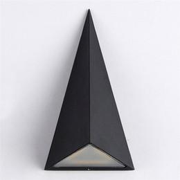 Canada Led Mur Lampe AC 85-265V 9 W Triangle Jardin Lumières IP65 Étanche Balcon En Plein Air Éclairage de Nuit pour la Décoration de La Maison supplier ac air Offre