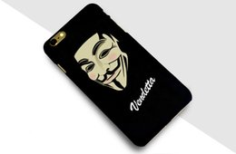 Wholesale Customize Mask - Phone Case Protective Case V Mask European American Style Personality Scrub Tide Brand Design Cell Phone Back Covers