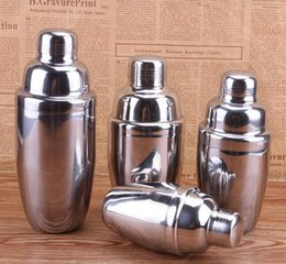 Wholesale Stainless Steel Wine Shaker - Wine Shaker Stainless Steel Boston Cocktail Shaker Mixer Wine Martini Drinking Boston Style Shaker Party Bar Tool KKA1793
