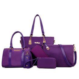 Wholesale Plain Shoe Bags - 2017 composite bag 6 sets bags luxury women handbags messenger bag purse tote bags matching shoes and bags