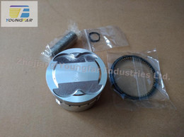 Wholesale Gy6 Cdi For Scooter - 58.5mm 4V Piston & Ring Set   for 4-valve cylinder head Scooter GY6 125 GY6 150 157QMJ RS100 JOG100 CYGNUS SR RSZ