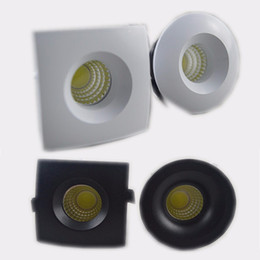 Wholesale Led Spots Bathroom 3w - 3W Mini LED Downlights Round Square LED Under Cabinet Mini spot downlight Foyer micro miniature Spot Downlight 110V 220V12V