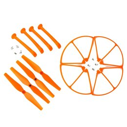 Wholesale Rc Helicopter Spare Motor - Syma X8C X8W X8G X8 Spare Parts Set with 4xLanding Gear 4xBlade Propeller 4xProtect Ring for RC Quadcopter Drone