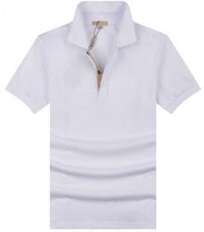 Canada Valeur Acheter Hommes Occasionnels Polo T-Shirt Brit Style Coton T-shirts À Manches Courtes D'été Loisirs Sport Chemises Printemps Automne Marque Solide T-shirt Offre