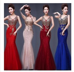 Wholesale Evening Dress Trumpet Embroidery - 2017 Sexy Mermaid  Trumpet Elie Saab Evening Formal Prom Dresses Evening Wear Beaded See Through Lace Backless V Neck With Embroidery
