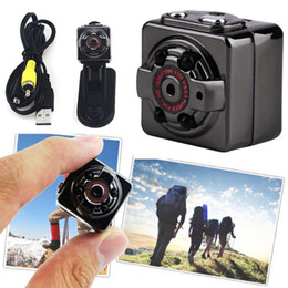 Wholesale Spy Camera Infrared Night Vision - HD 1080P Sport Spy Mini Camera SQ8 Mini DV Voice Video Recorder Infrared Night Vision 720P Digital Small Cam Hidden Camcorder