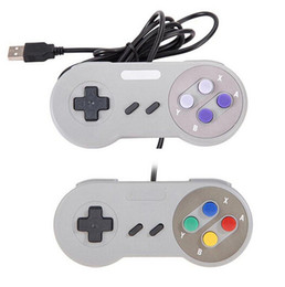 Joypad usb online-Controlador USB Controladores de PC Gamepad Joypad Joystick Reemplazo para Super Nintendo SF para SNES NES Tablet PC LaWindows MAC
