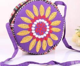 Wholesale Embroidered National Trend Bag - Wholesale- !National trend handmade fabric embroidery embroidered bags shoulder messenger bag day clutch