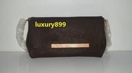 2019 sacos de designer marrom escuro Frete Grátis! Hight Qualidade Famosa Bolsa De Couro Genuíno Das Mulheres Bolsa de Ombro 40718 bolsa favorita mm couro real 40717
