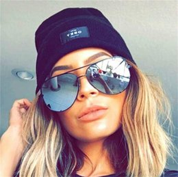 Wholesale Gold Mirrored Aviator Sunglasses - Wholesale- rose gold aviator sunglasses women Luxe Australia brand designer lunettes Femmes 2017 Mirror Refletent Oversize Sexy sun glasses