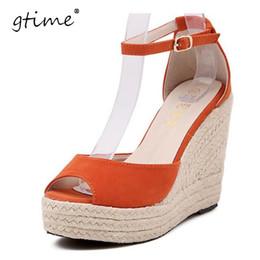 Wholesale Platform Flip Flops Men - Gtime Fashion Superior Quality Comfortable Bohemian Wedges Women Sandals For Lady Shoes High Platform Open Toe Flip Flops ZWB47