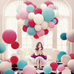 Wholesale 36 Inch Latex Balloons Wholesale - 1 8fb Colorful 36 Inch Round Big Balloons Thickening Multicolor Latex Balloon Large Airballoon For Wedding Birthday Party Decorative Toys